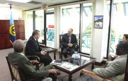 Bilateral meeting between CARICOM Secretariat and representatives of UN Environment's Latin America and Caribbean office. Image © Caribbean Community.