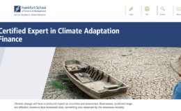 Frankfurt School of Finance and Management Climate Adaptation Finance e-learning course