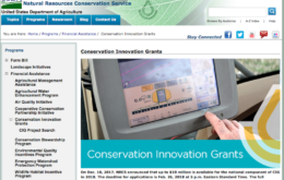 USDA NRCS conservation innovation grants