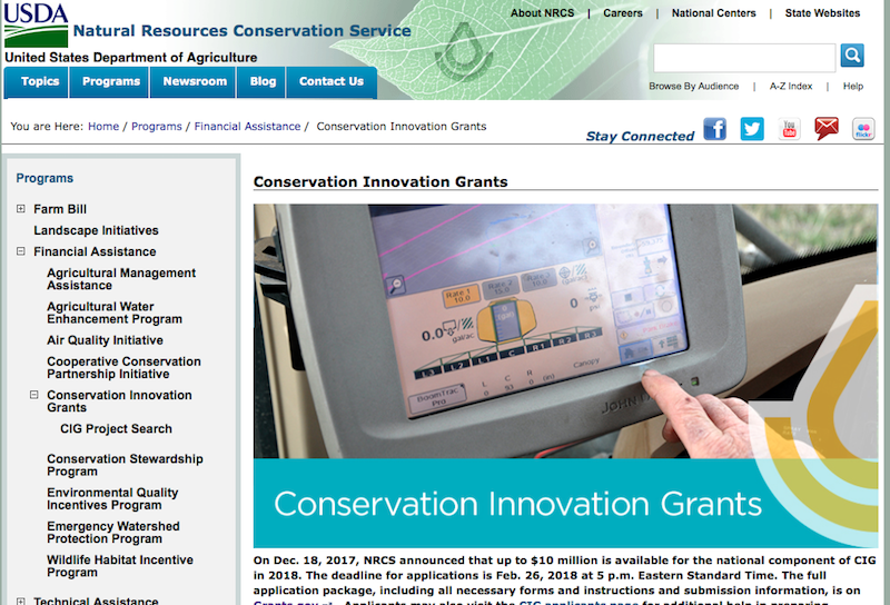 Natural Resource Conservation Service Grants
