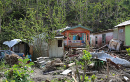 Hurricane Maria destruction on Dominica. Image credit Tanya Holden/DFID