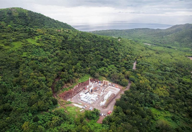 Drilling site of MON-3 geothermal well in Montserrat. Image source: Bastien Poux via thinkgeoenergy