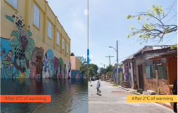Sea level rise projections for Kingston, Jamaica. Image: Nickolay Lamm for Climate Central