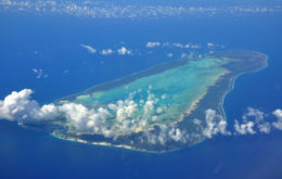 Aerial view of Aldabra in the Seychelles. Image credit: Simisa
