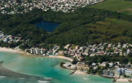 Aerial view of the South Coast of Barbados. Image © digital Light Capture