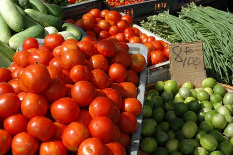 Fresh produce, Guyana. Kevin Nellies / © Commonwealth Secretariat.