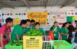 Produce grown by ESTM students is used in the school's cafeteria and sold in the community. Image credit: CDB