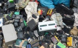 Old lead-acid batteries. Image: Basel Action Network