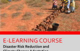 E-learning course on Disaster Risk Reduction and Climate Change Adaptation