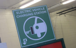 Electric vehicle charging station. Image: Nick Piggott