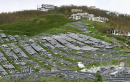 Damaged solar panels on October 10, 2017, St. Thomas, US Virgin Islands. Image: Jocelyn Augustino/FEMA via RMI