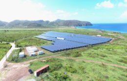 Solar Park, St. Eustatius. Image: via St. Maarten Daily Herald