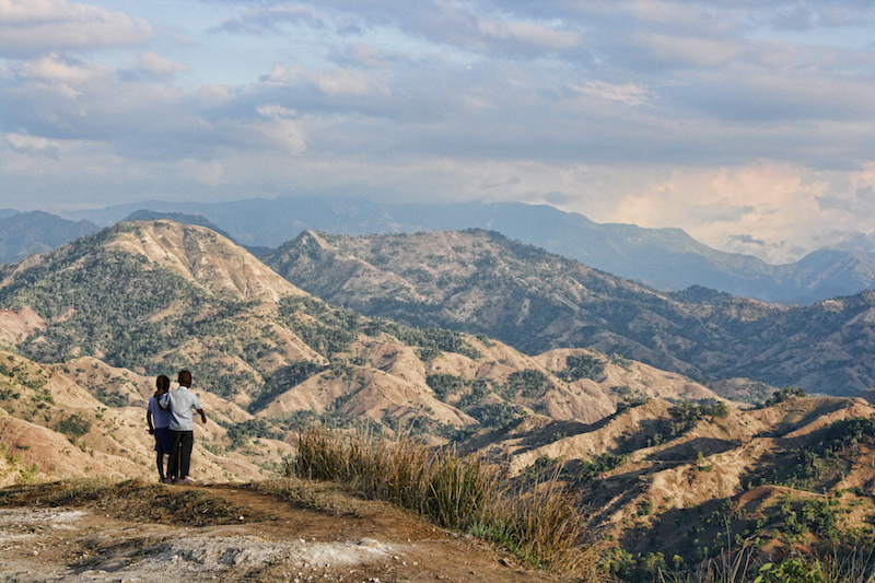 Children stand atop a mountain in Fondwa, Haiti. Image: Direct Relief