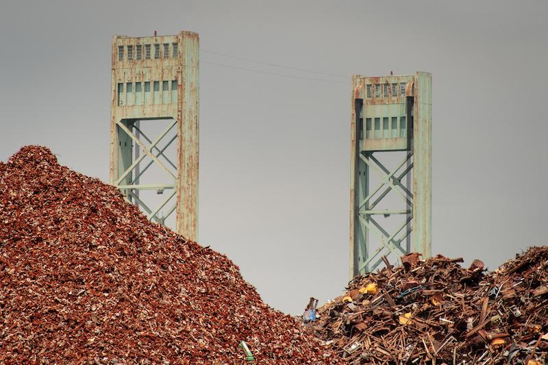 Scrap metal. Image: Andrew Malone.