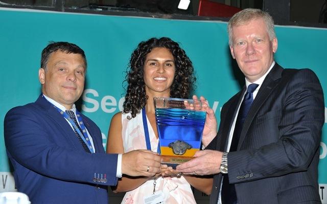 Diva Amon receives ISA award. Image: via International Seabed Authority