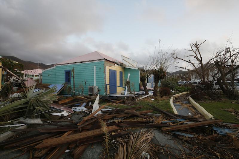 Hurricane damage, BVI. Image: Russell Watkins/DFID