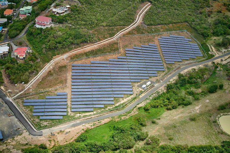 Saint Lucia solar farm. Image: via Saint Lucia News Online