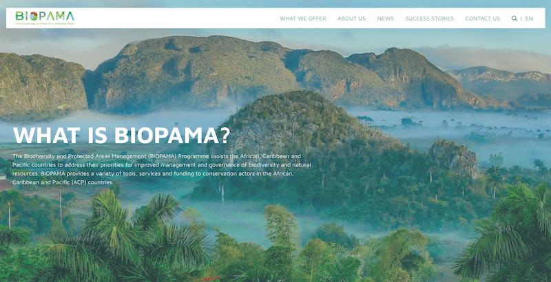 BIOPAMA website