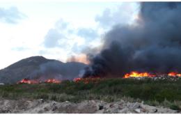 St. Maarten landfill fire. Image: via St. Maarten Daily Herald.