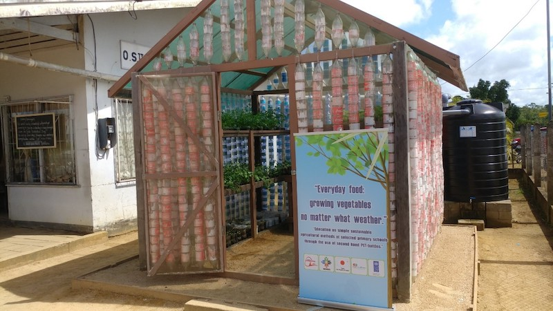 PET bottle nursery house. Image: via UNDP