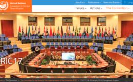 Screenshot from UNCCD website