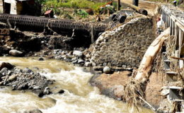 Bridge damaged by flooding, St. Vincent and the Grenadines. Image: CIF Action